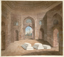 The interior of the tomb of Ghiyath al-Din Tughluq